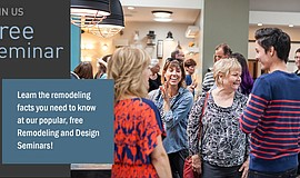 Promotional graphic for the Design & Remodeling Seminars. Courtesy of Jackson...