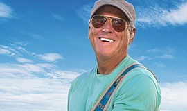 A promotional photo of musician Jimmy Buffett.