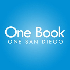 Graphic logo for One Book, One San Diego.