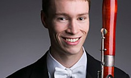 A photo of bassoon player Keith Buncke, courtesy of La Jolla Music Society.