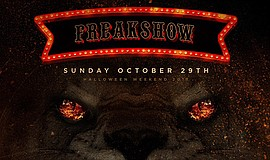 Promotional graphic for #TheLairFreakshow on Sunday, Oct. 29, 2017 - Hallowee...