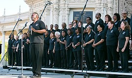Photo of the Martin Luther King, Jr. Community Choir San Diego performing live.