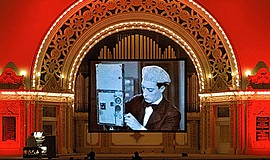 A photo from a past Spreckels Organ movie night, courtesy of Spreckels Organ ...
