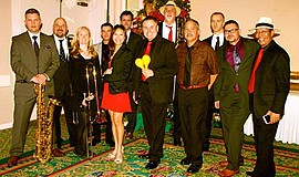 Promotional photo of Manny Cepeda orchestra. Courtesy of Rick Chriss.