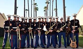 Promotional photo of the Marine Corps Jazz Orchestra