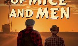 "Promotional graphic for play ""Of Mice and Men."" Courtesy of North Coast Reper..."