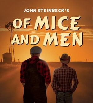 """Promotional graphic for play """"Of Mice and Men."""" Courtesy of North Coast Repertory Theatre."""