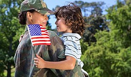 Promotional photo for veterans' event. Courtesy of the Mission Valley Library.