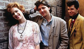 "Molly Ringwald, Andrew McCarthy, and Jon Cryer in ""Pretty in Pink"" (1986)."
