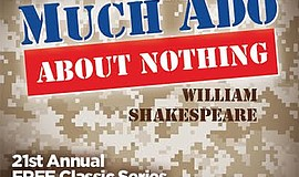 "A promotional poster for Coronado Playhouse's ""Much Ado About Nothing."""