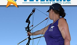 Promotional graphic for the National Veterans Summer Sports Clinic