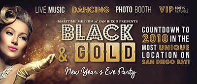 Promotional photo for the Black and Gold New Year's Eve Party. Courtesy of the Maritime Museum of San Diego.