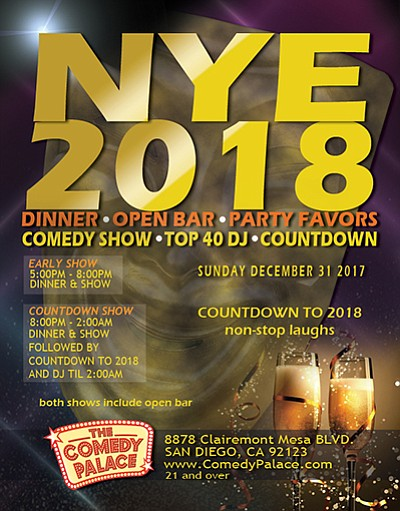 Promotional flyer for New Year's Eve 2018. Courtesy of Th...