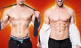 A promotional photo of The Naked Magicians.