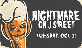 Promotional graphic for Nightmare on J Street. Courtesy of Nason's Beer Hall