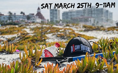 Promotional graphic for the Coronado (North Beach) clean up hosted by Nicky Rottens