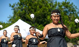 Promotional photo of performers at previous Pacific Islander Festival. Courte...