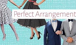 "A promotional poster for Intrepid's ""Perfect Arrangement."""