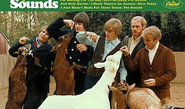 "A photo of the cover of the Beach Boys album, ""Pet Sounds."""