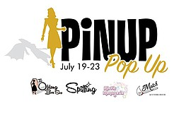 Promotional flyer for the Pinup Popup. Courtesy of The Oblong Box Shop.