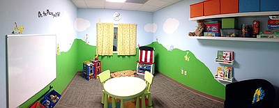 Photo of the Playroom at the Family Wellness Center.