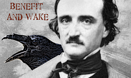 Promotional graphic for the E.A. Poe Memorial And Wake
