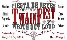 A promotional poster for TwainFest, courtesy of Write Out Loud.