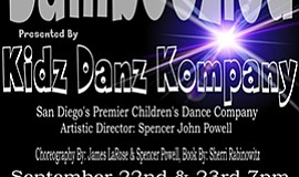 "Graphic flyer for ""Bamboozled,"" presented by Kidz Danz Kompany Sept. 22-23, 2..."