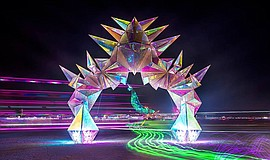Pulse Portal by Davis McCarty at Burning Man.