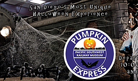 Promotional graphic for Pumpkin Trains. Courtesy of Pacific Southwest Railway...