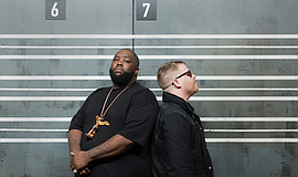 A promotional photo of Run the Jewels, courtesy of The Observatory.