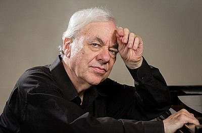 A photo of pianist Richard Goode, by Steve Riskind.