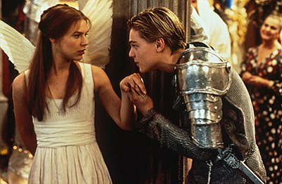 "A photo from the film ""Romeo + Juliet."""