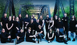 A promotional photo of choral group SACRA/PROFANA, courtesy of the organization.