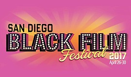 Graphic logo for the San Diego Black Film Festival 2017