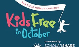Promotional graphic for the Kids for Free special offer in October presented ...