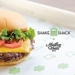Promotional graphic for the Shake Shack San Diego x Modern Times Pre-Opening Pop-Up. Courtesy of the Shake Shack