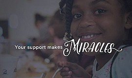 """Promotional graphic that reads """"Your Support Makes Miracles - The Salvation A..."""