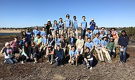 Promotional photo of volunteers for San Diego Audubon Society at South Shores.