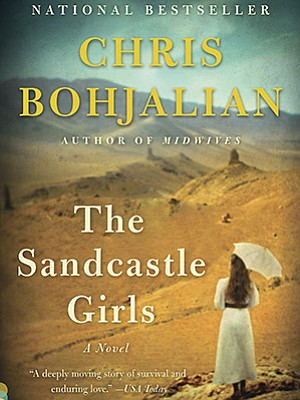 """Graphic cover of """"The Sandcastle Girls,"""" by Chris Bohjalian"""