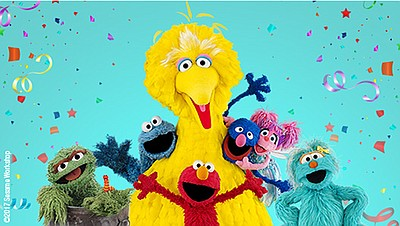 Promotional photo of Sesame Street characters. Courtesy o...