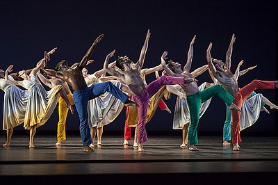 A promotional photo of Mark Morris Dance Group, by Ken Fr...