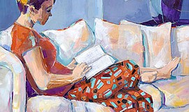 "Promotional photo of artwork: ""Studying in Comfort"" by Vi Gassman. Courtesy o..."