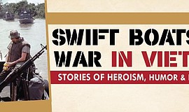 "Promotional graphic for ""Swift Boats At War In Vietnam."" Courtesy of Maritime..."