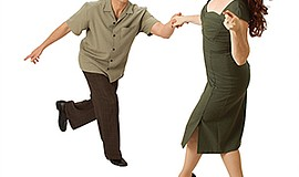 Promo graphic for Swing Dance Classes With The Hang Ten...