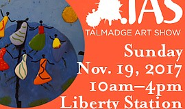 Promotional graphic for the Talmadge Art Show.