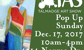 Promotional graphic for the Talmadge Art Show Pop Up.