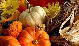 Promotional photo of pumpkins for the Thanksgiving Day Buffet. Courtesy of Th...