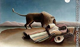 "Photo of Henri Rousseau's piece, ""The Sleeping Gypsy."" Co..."
