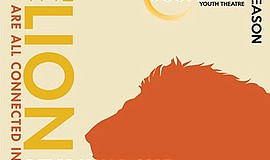 "Promotional flyer for JCompany Youth Theatre adaptation of ""The Lion King."" C..."